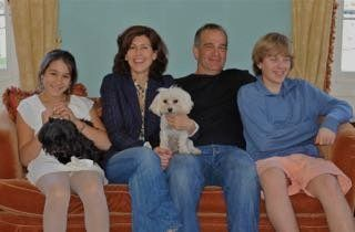 The author (second from left) and her family.