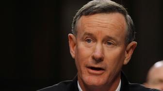 U.S. Navy Admiral William McRaven testifies before the Senate Armed Services Committee in Washington March 5, 2013, with regard to the Defense Authorization Request for fiscal year 2014. REUTERS/Gary Cameron (UNITED STATES - Tags: MILITARY POLITICS PROFILE HEADSHOT)