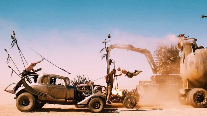 "With spectacular car chases set against rolling deserts, the vivid earth tones in ""Mad Max: Fury Road"" make every scene look"
