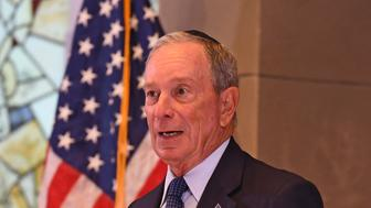 PEMBROKE PINES FL - OCTOBER 07: Former New York City Mayor Michael Bloomberg attends a political event at the Century Village Jewish Center on October 7, 2018 in Pembroke Pines, Florida.Credit: mpi04/MediaPunch /IPX