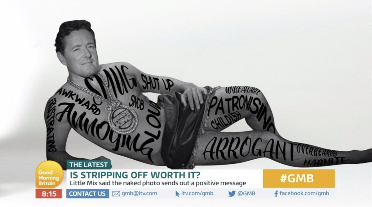 'Good Morning Britain' Bosses Brilliantly Troll Piers Morgan After Little Mix Nude Photoshoot