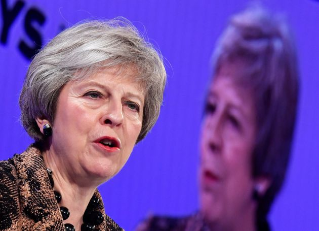 Theresa May speaks to the CBI annual