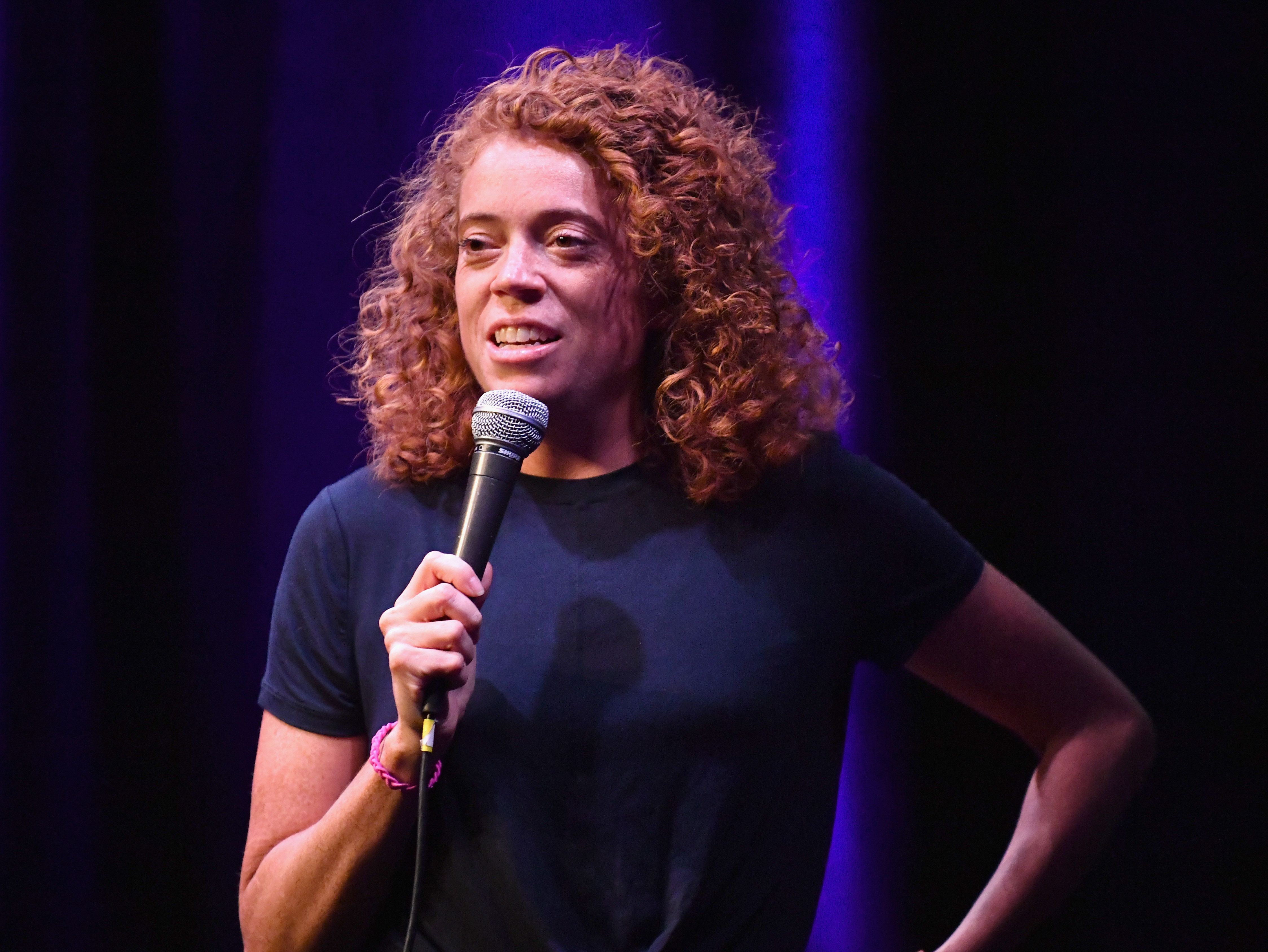 LAS VEGAS, NV - SEPTEMBER 22:  Michelle Wolf performs onstage at The Kicker during the 2018 Life Is Beautiful Festival on September 22, 2018 in Las Vegas, Nevada.  (Photo by FilmMagic/FilmMagic for Life Is Beautiful)