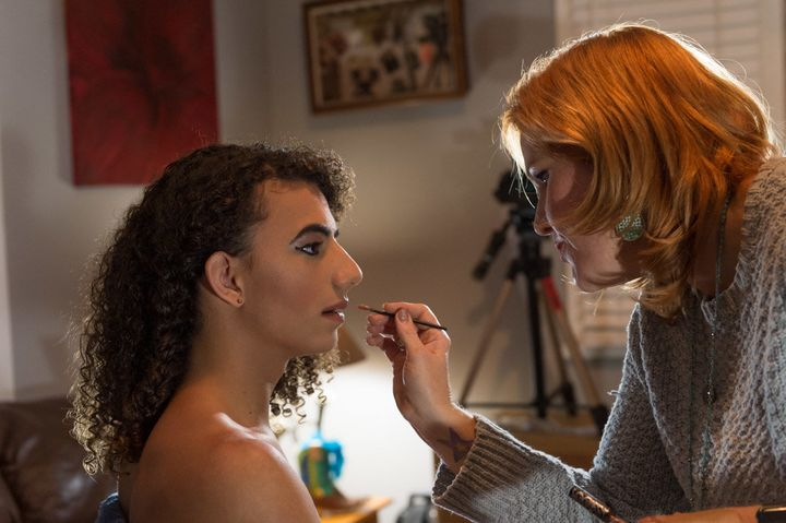A hairstylist and makeup artist lent their services to Dylan for the big day.