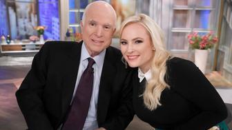 New York, NY - 2017: (L-R) Senator John McCain, Meghan McCain on 'The View', a visit for Meghan McCain's birthday, Monday, October 23, 2017. (Photo by Heidi Gutman /ABC via Getty Images)