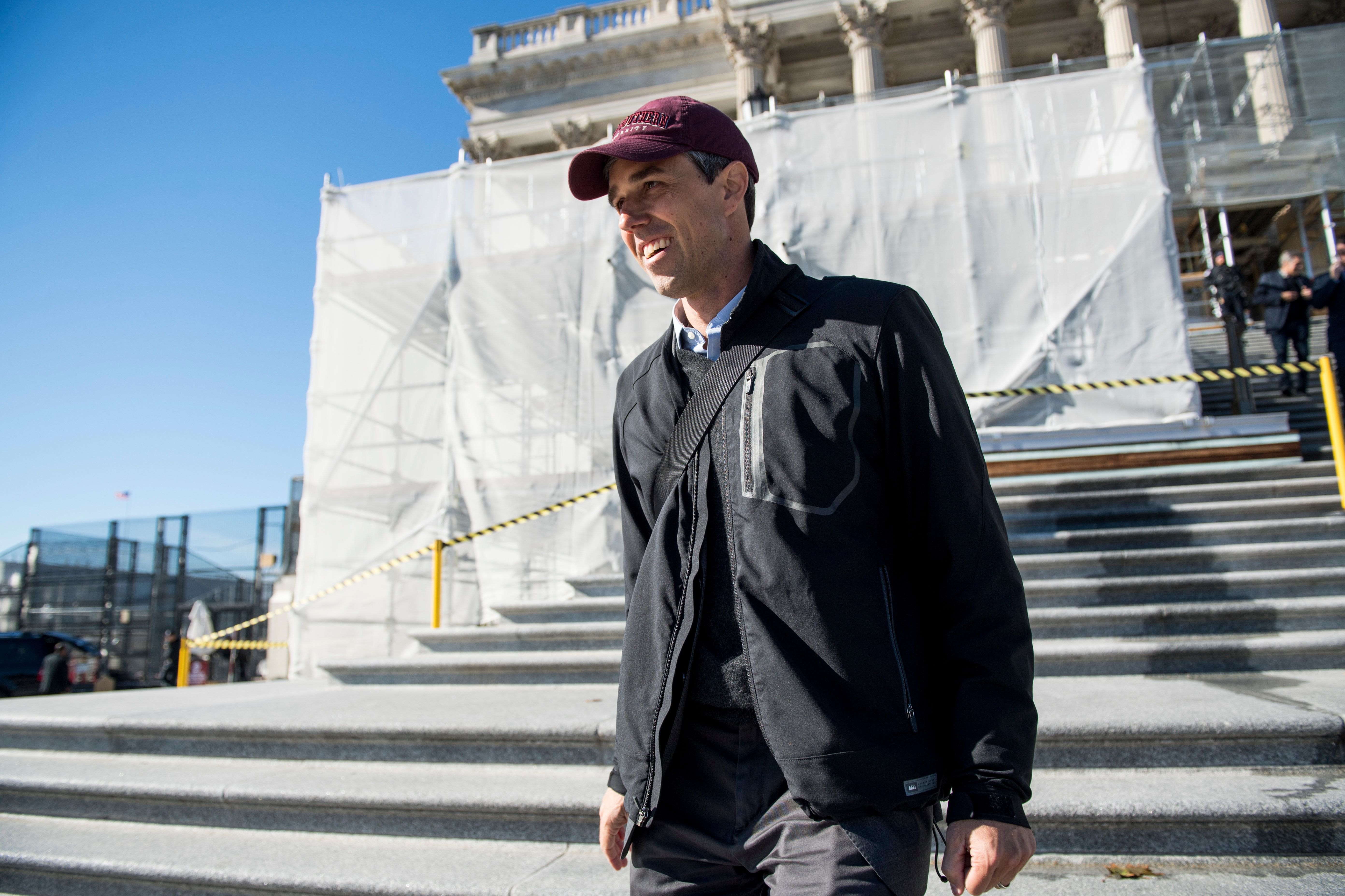 UNITED STATES - NOVEMBER 16: Rep. Beto O'Rourke, D-Texas, leaves the Capitol after the last votes of the week on Friday, Nov. 16, 2018. (Photo By Bill Clark/CQ Roll Call)