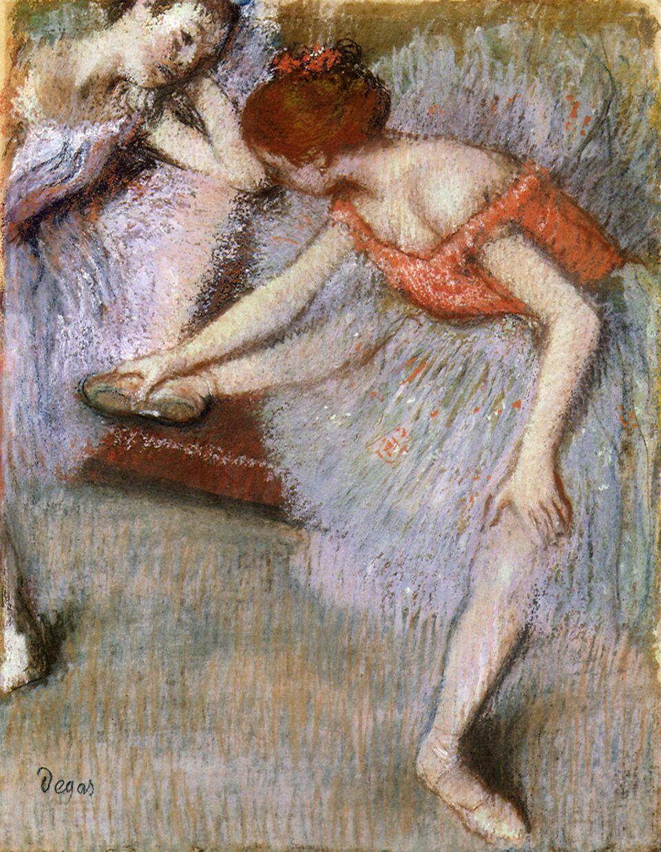 Adulto, Degas falava com poucas mulheres exceto suas empregadas domésticas. Seus amigos pensavam que...