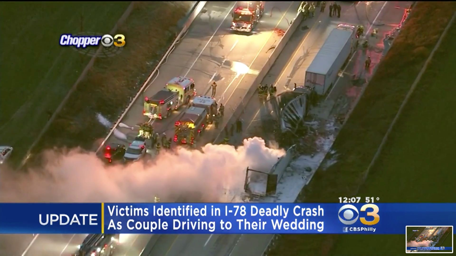 New Jersey couple killed in fiery crash driving to their wedding