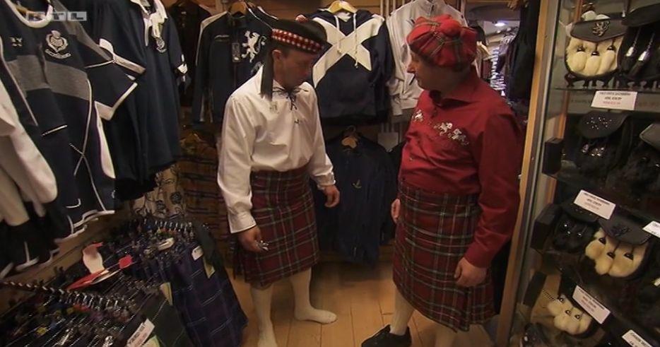 Die beiden Schäfer, Rainer und Heinrich, in Schottland.