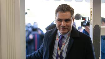 CNN's Jim Acosta's enters the James S. Brady Press Briefing Room of the White House in Washington, D.C., after a judge ordered the Trump Administration to return his press pass. On Friday, November 16, 2018. (Photo by Cheriss May/NurPhoto via Getty Images)