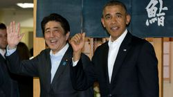 아베가 오바마와 갔던 스시집 '큐베이'가 입점 호텔과 싸우는