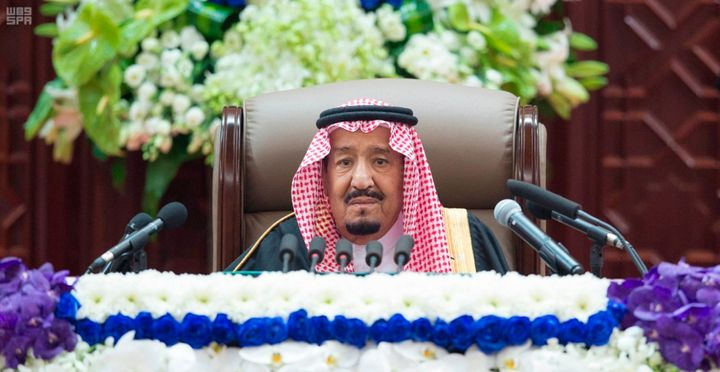 Amid an international uproar over the killing of journalist Jamal Khashoggi, Saudi King Salman expressed support for his son,