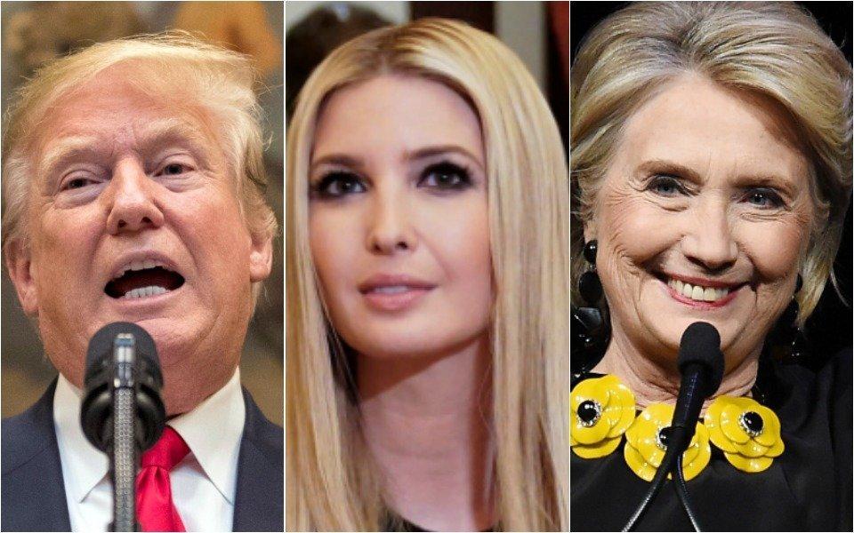 Donald Trump, Ivanka Trump, Hillary Clinton