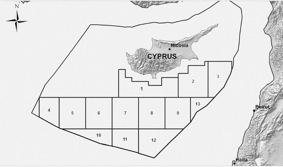 Τα 12 οικόπεδα της κυπριακής ΑΟΖ και τουρκικός