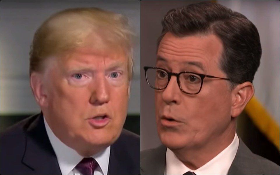 Trump's 'Interview' With Stephen Colbert Gets Weird Right Off The