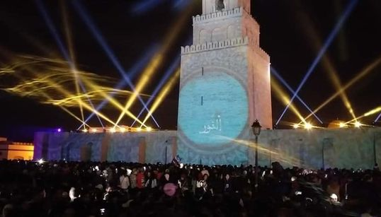 Les magnifiques images de la Mosquée Okba Ibn Nefaa de Kairouan baignée dans un festival de