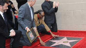 HOLLYWOOD, CA - NOVEMBER 19:  Snoop Dogg Honored With Star On The Hollywood Walk Of Fame held on November 19, 2018 in Hollywood, California.  (Photo by Albert L. Ortega/Getty Images)