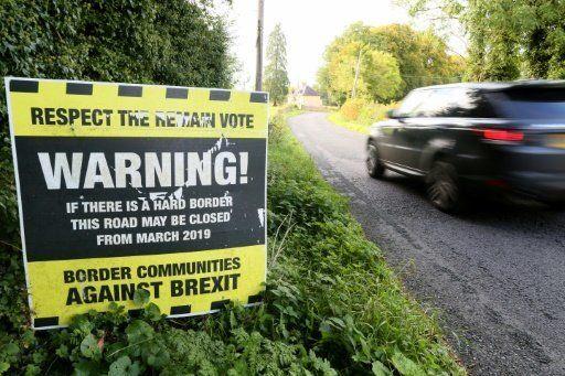 A sign near the Ireland