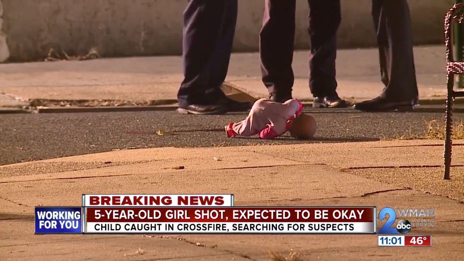 Baltimore shooting wounds 5-year-old girl