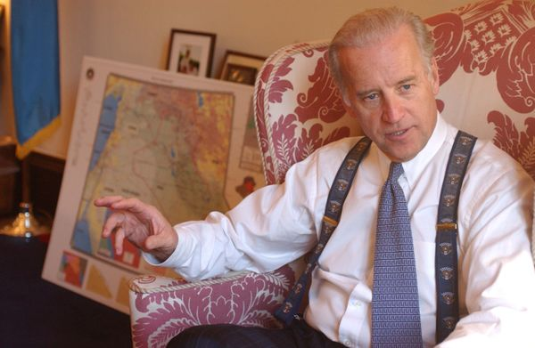 Biden, ranking Democrat on the Senate Foreign Relations Committee, during an interview in his office about the possibility of