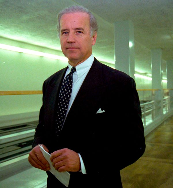 Biden walks through the subway servicing Capitol Hill while the House Judiciary Committee considered impeaching President Bil
