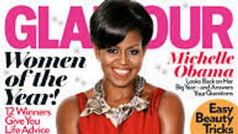 <p>It wasn't just US Vogue that Michelle Obama modelled for. This Glamour cover was just one of many magazine shoots the former First Lady agreed to. </p>