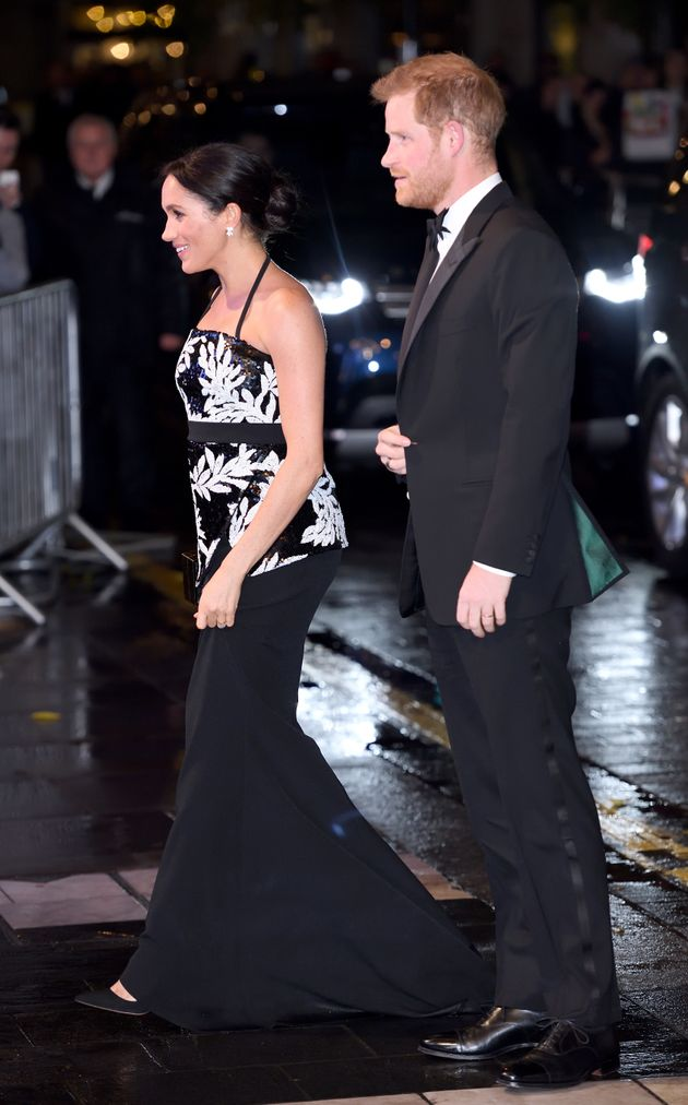 Meghan Markle Just Wore A Black-And-White Sequined Outfit Covered In