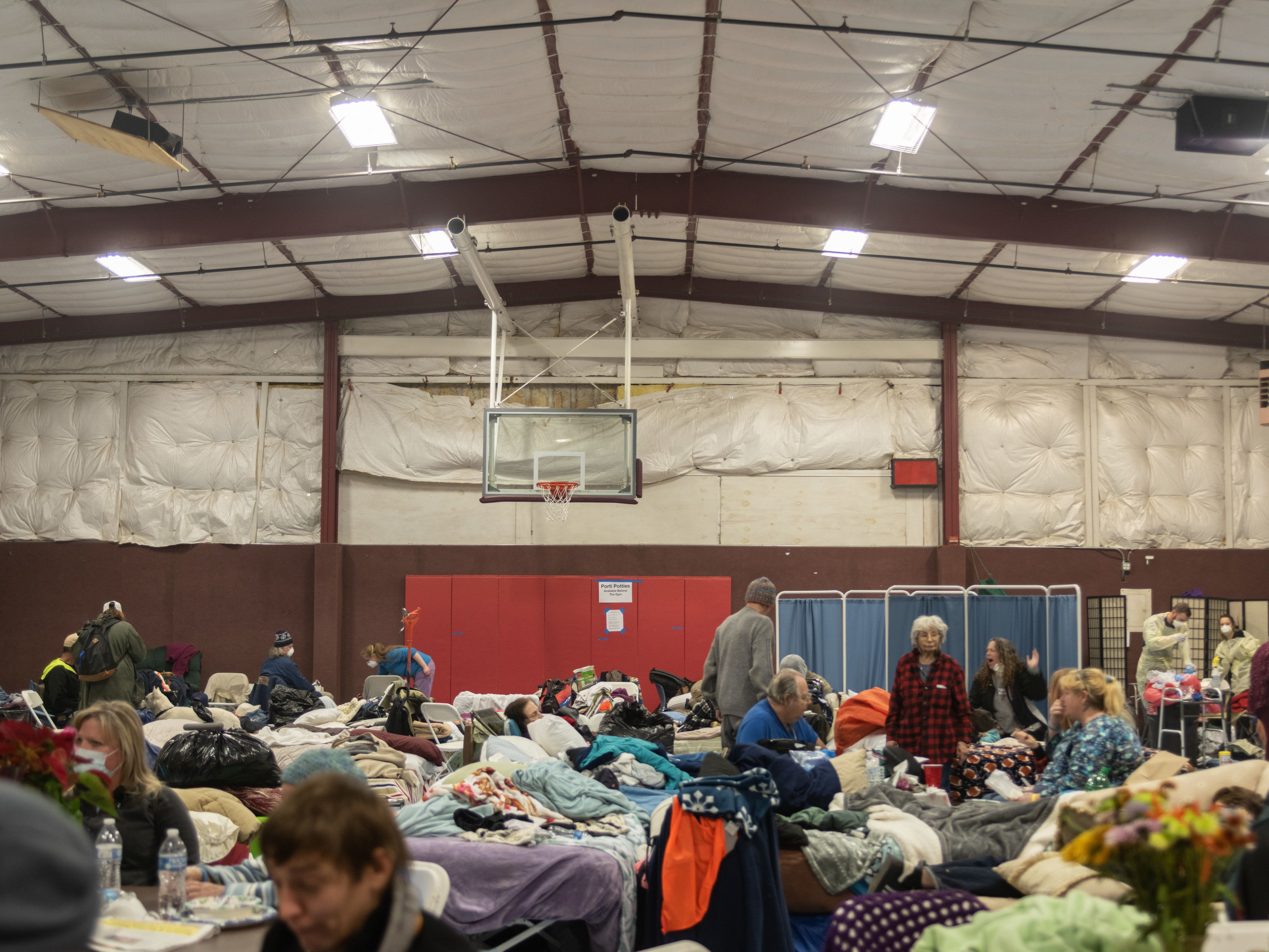 East Ave Church shelter in Chico is housing more than 250 evacuees, including Vivian Fahlgren.