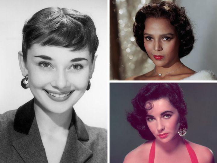 Audrey Hepburn, Dorothy Dandridge and Elizabeth Taylor.