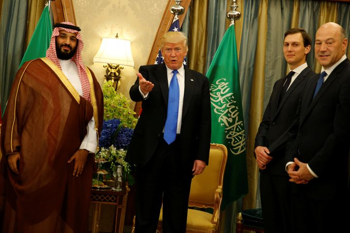 Trump made Saudi Arabia his first foreign visit as president. He and his son-in-law Jared Kushner met with Crown Prince Moham