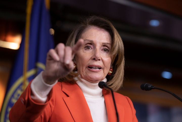 House Minority Leader Nancy Pelosi (D-Calif.) talks to reporters Thursday. With Democrats retaking control of the House, the