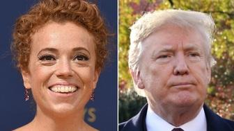Michelle Wolf and Donald Trump