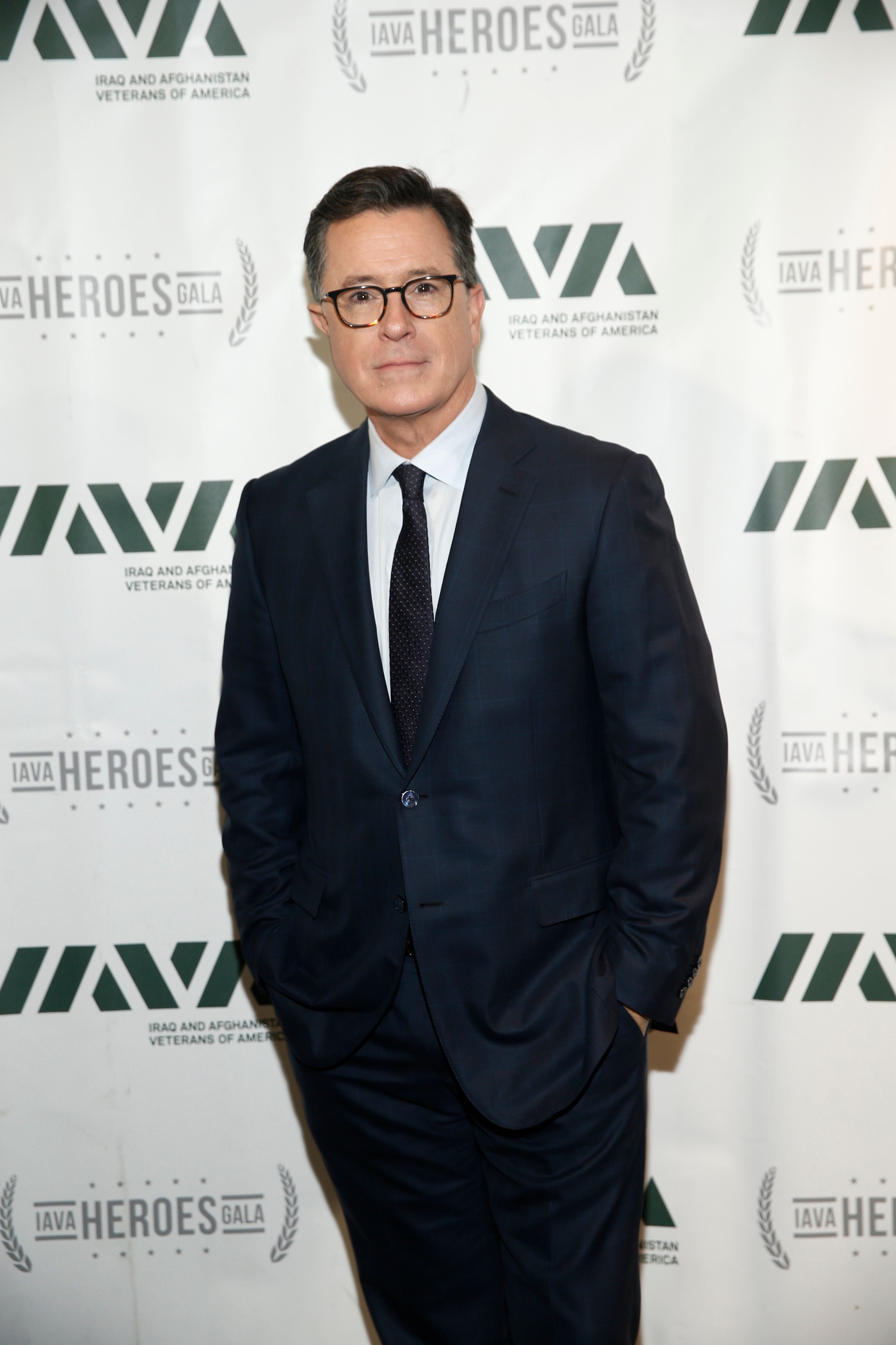 NEW YORK, NY - NOVEMBER 08:  Special guest Stephen Colbert attends IAVA 12th Annual Heroes Gala at the Classic Car Club Manhattan on November 8, 2018 in New York City.  (Photo by Brian Ach/Getty Images for Iraq and Afghanistan Veterans of America )