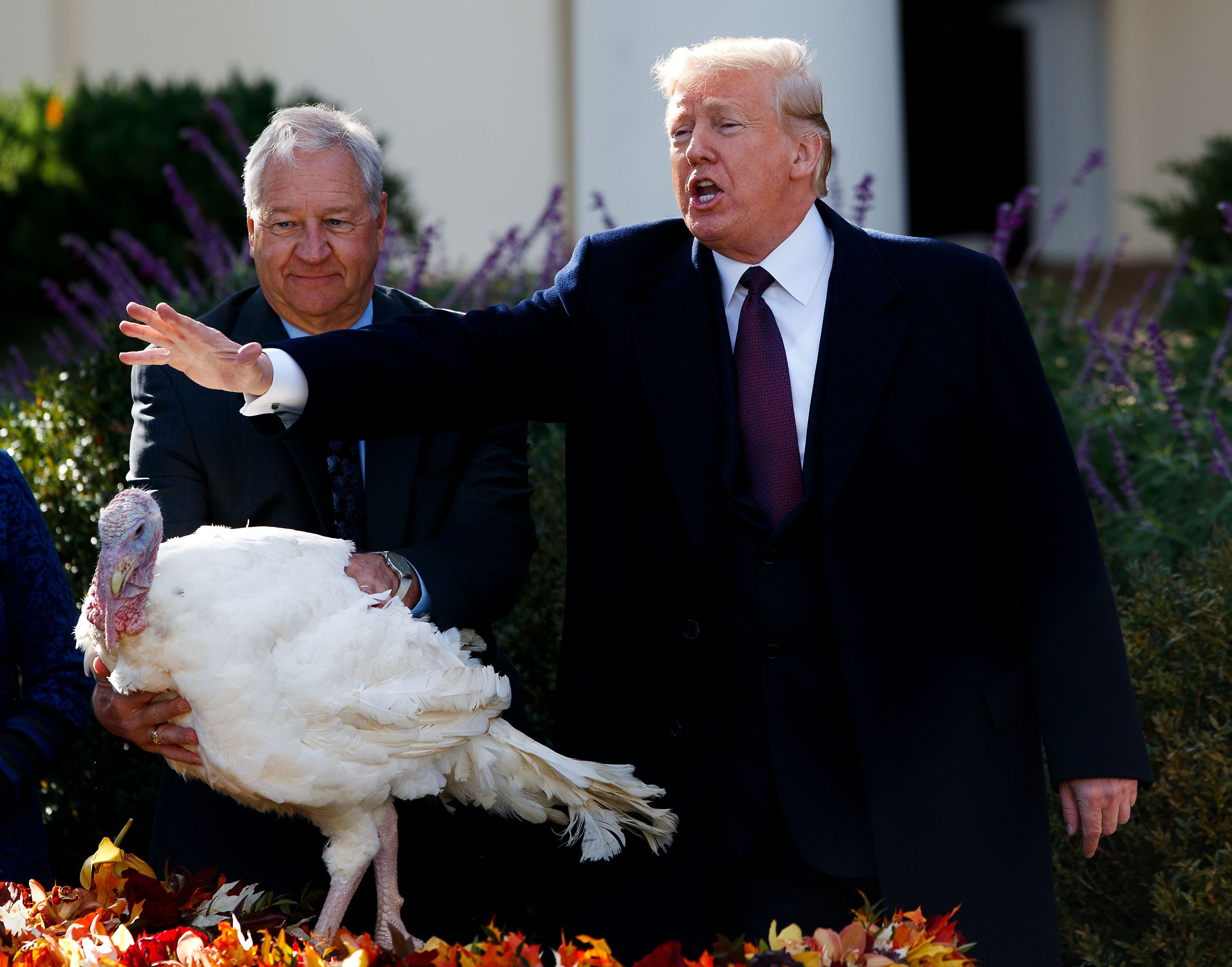 Trump Jokes About Midterms and Democrats At Turkey
