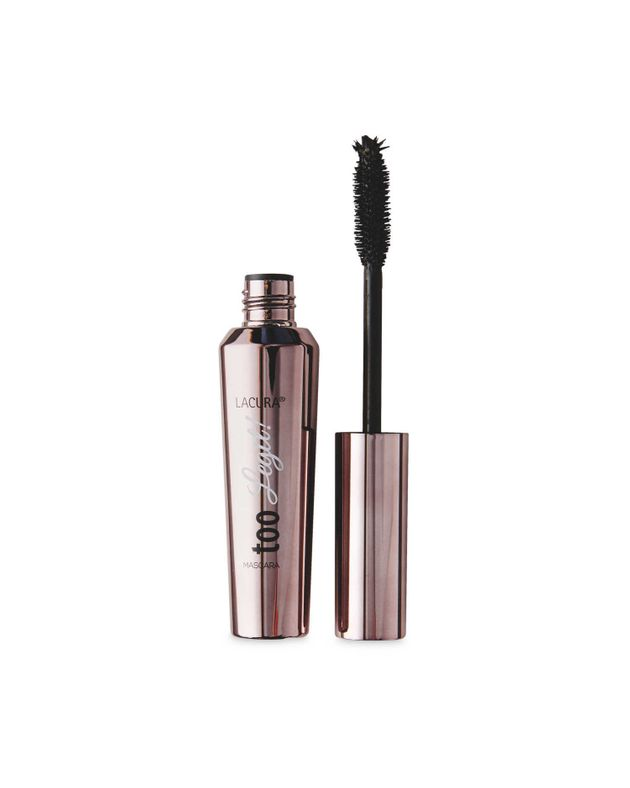 Lengthen lashes with the Lacura Too Legit Mascara,
