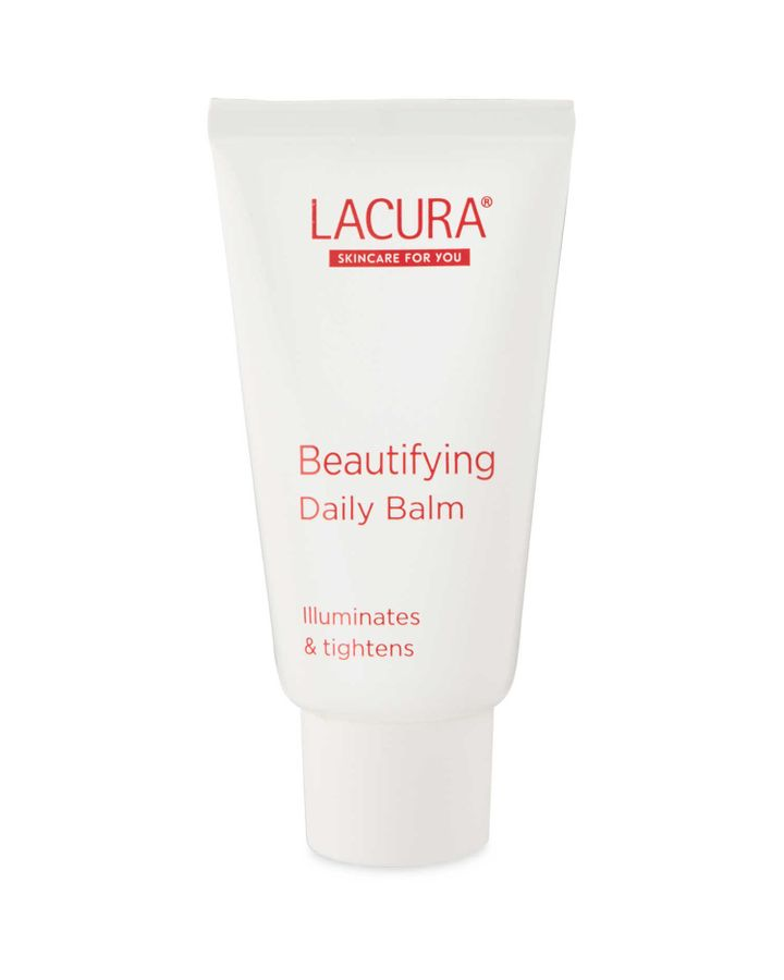 Illuminate and tighten skin before applying your makeup with the Lacura Beautifying Daily Balm, £2.29.
