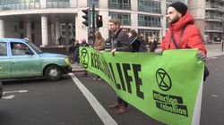 Climate Change Protesters Block Vauxhall