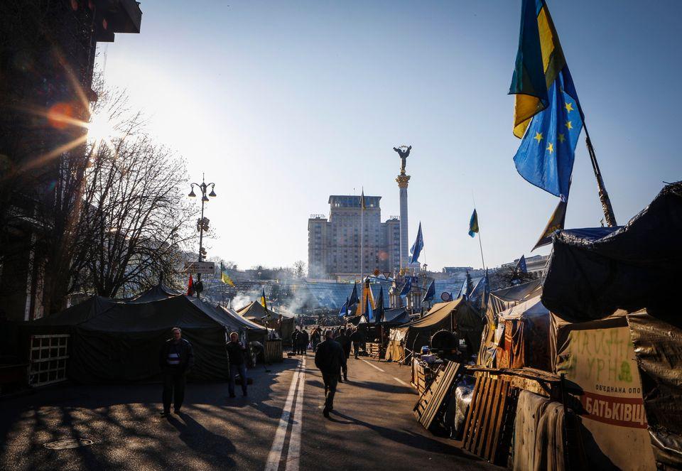 Der Euromaidan im Frühjahr 2014.