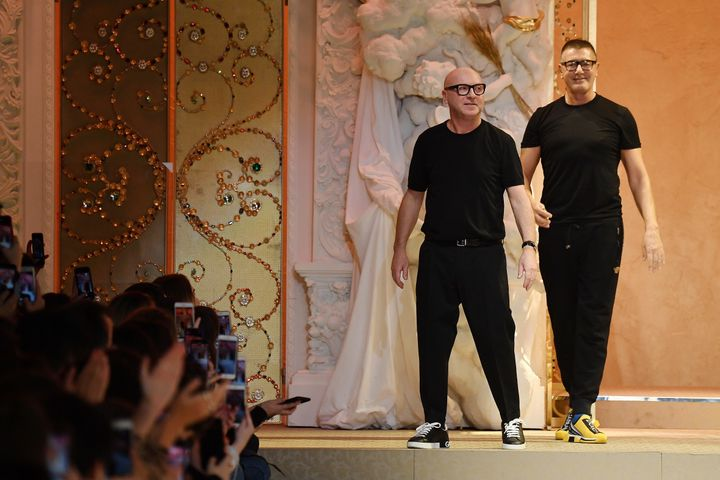 631f616b5617 Domenico Dolce and Stefano Gabbana, designers and co-founders of Dolce  & Gabbana