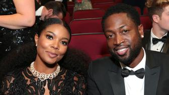Gabrielle Union, left, and Dwyane Wade pose in the audience at the 69th Primetime Emmy Awards on Sunday, Sept. 17, 2017, at the Microsoft Theater in Los Angeles. (Photo by Alex Berliner/Invision for the Television Academy/AP Images)