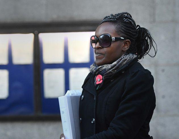 Fiona Onasanya outside the Old Bailey last