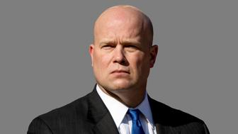 Matthew Whitaker headshot, as Acting US Attorney General, graphic element on gray