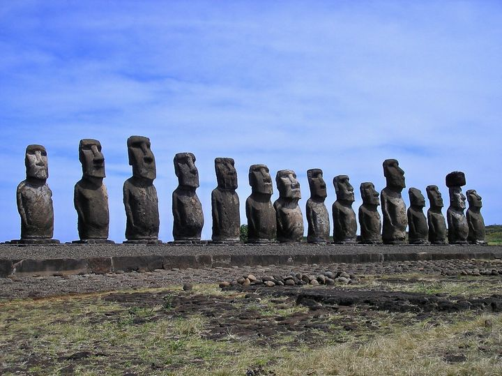 The ancient moai are one of the most iconic sculptures in the world.