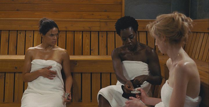 Michelle Rodriguez, Davis and Elizabeth Debicki in