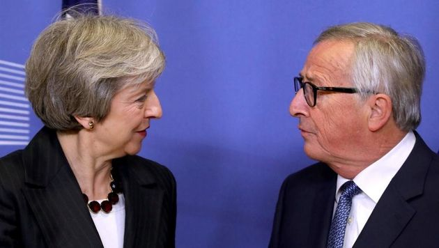 Theresa May meets European Commission president Jean-Claude Juncker in