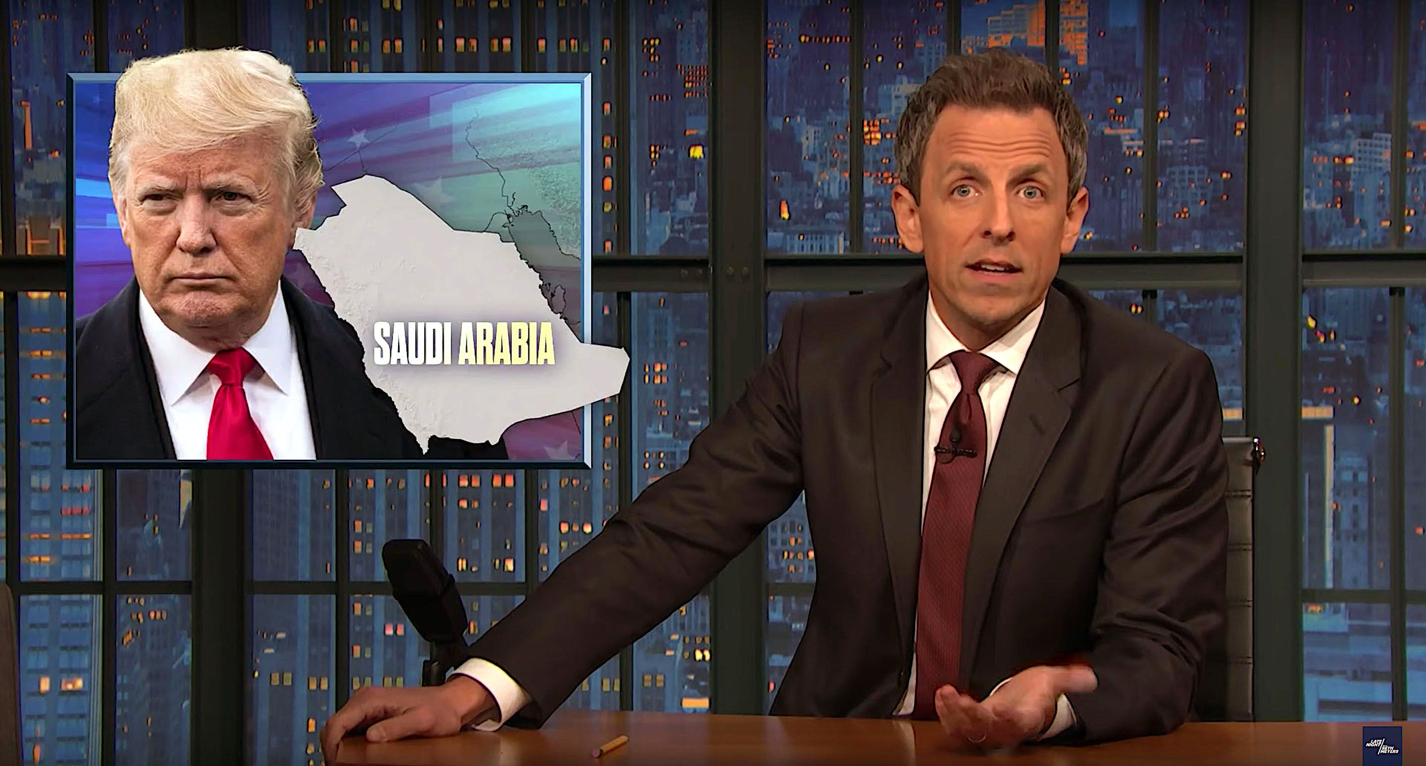 Seth Meyers talks about how important loyalty is to President Donald Trump.