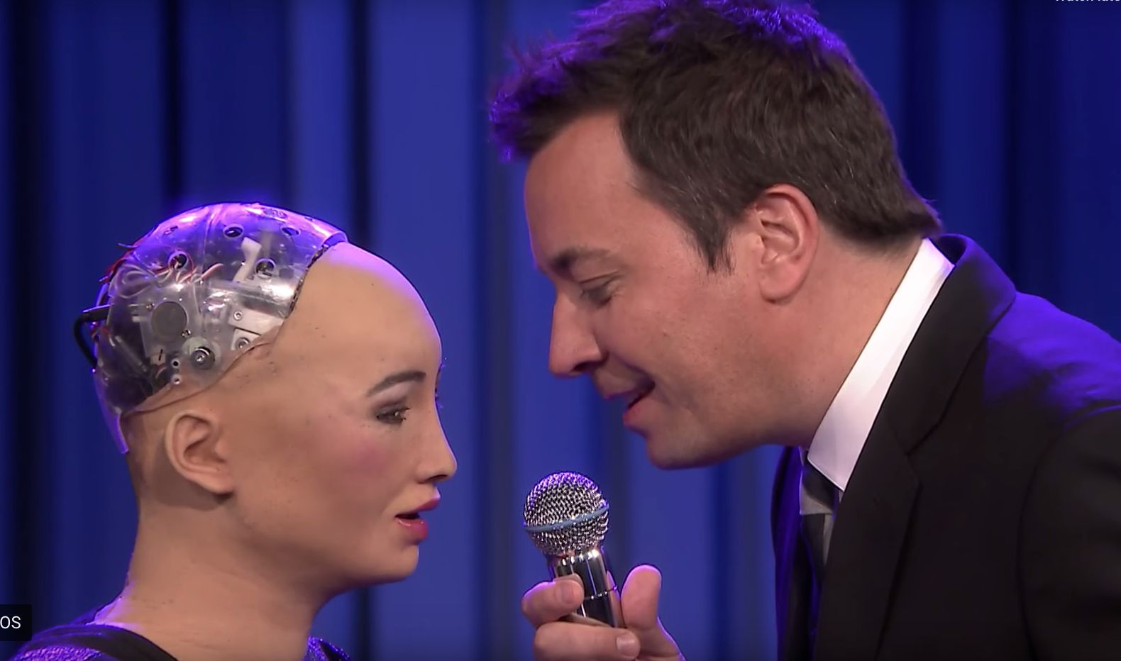 Sophia the Robot and Jimmy Fallon