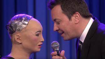 Sophia the Robot and Jimmy Fallon