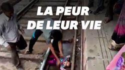 Un bébé passe sous un train en Inde et s'en sort sain et