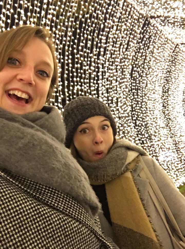 My colleague Amy and I had a great time in the tunnels.